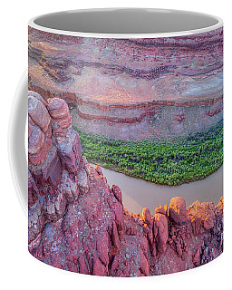 Canyon Of Colorado River - Sunrise Aerial View Coffee Mug