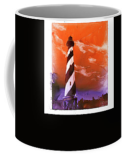 Coffee Mug featuring the painting Cape Hatteras Lighthouse by Ryan Fox