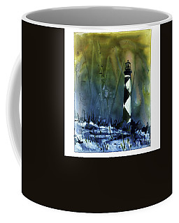 Coffee Mug featuring the mixed media Cape Lookout Lighthouse by Ryan Fox