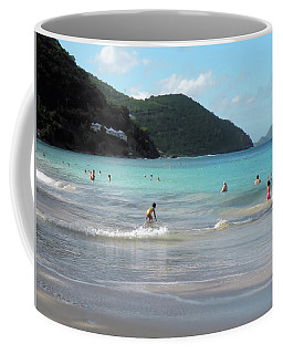 Caribbean Beach Scenic Coffee Mug by Rosalie Scanlon