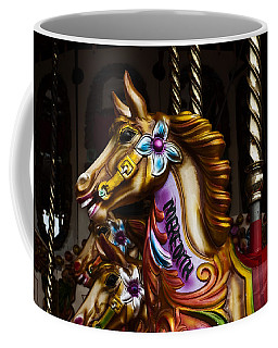 Coffee Mug featuring the photograph Carousel Horses by Steve Purnell
