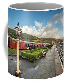 Coffee Mug featuring the photograph Carrog Railway Station by Adrian Evans