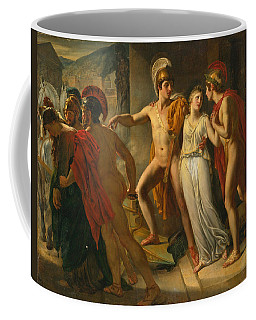 Coffee Mug featuring the painting Castor And Pollux Rescuing Helen by Jean-Bruno Gassies