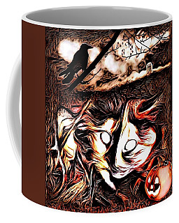 Cat Abstract By Artful Oasis 1 Coffee Mug