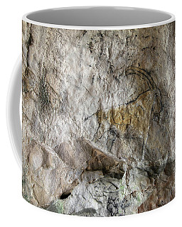 Cave Painting In Prehistoric Style Coffee Mug by Michal Boubin