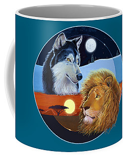 Coffee Mug featuring the mixed media Celestial Kings Circular by J L Meadows