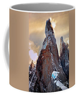 Coffee Mug featuring the photograph Cerro Torre by Bernardo Galmarini