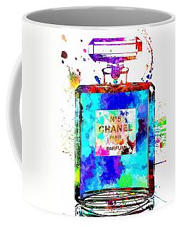 Chanel No. 5 Grunge Coffee Mug by Daniel Janda