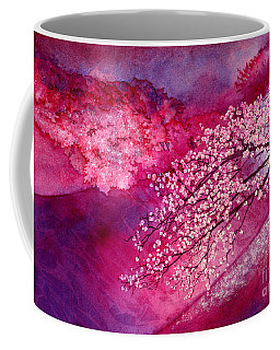 Coffee Mug featuring the painting Cherry Blossoms by Hailey E Herrera