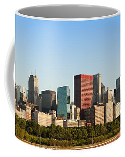 Chicago Downtown At Sunrise Coffee Mug by Semmick Photo