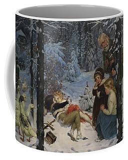 Children In The Snow Coffee Mug