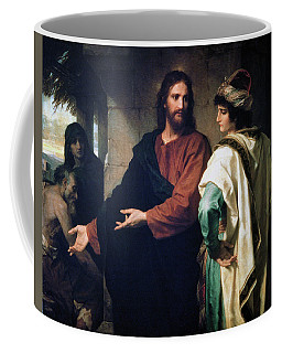 Christ And The Rich Young Ruler Coffee Mug