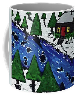 Christmas Card Canvas Art Coffee Mug by Jonathon Hansen