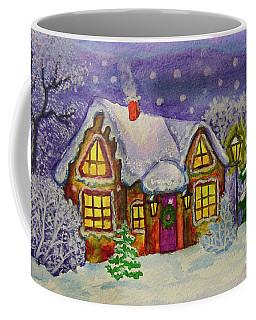 Christmas House, Painting Coffee Mug