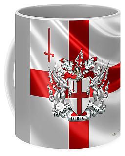 City Of London - Coat Of Arms Over Flag  Coffee Mug
