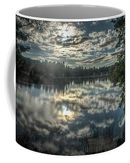 Clouds Over The Pond Coffee Mug