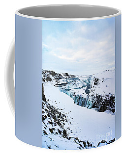 Cold Winter Day At Gullfoss, Iceland Coffee Mug
