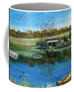 Coffee Mug featuring the painting Cole Hill Pond by Melly Terpening