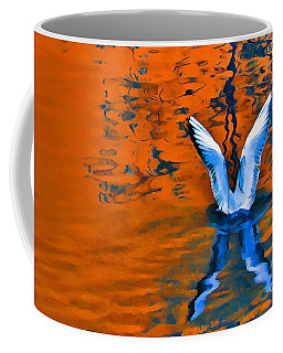 Color Abstract Gull Wings Coffee Mug