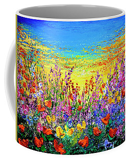 Coffee Mug featuring the painting Color My World by Teresa Wegrzyn