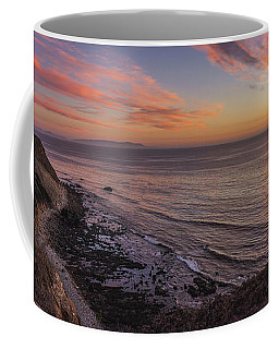 Coffee Mug featuring the photograph Colorful Sunset At Golden Cove by Andy Konieczny
