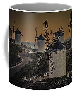 Coffee Mug featuring the photograph Consuegra Windmills 2 by Heiko Koehrer-Wagner