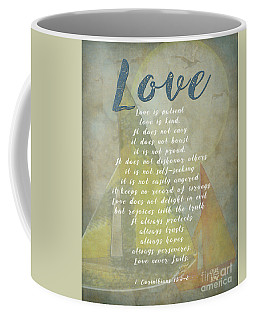 1 Corinthians 13 4-8 Love Is Patient Love Is Kind Wedding Verses. Great Gift For Men Or Home Decor. Coffee Mug