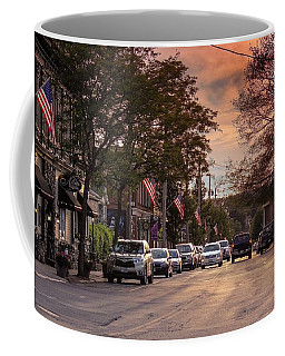 Coffee Mug featuring the photograph Cottage Street Evening Sunset by Sven Kielhorn