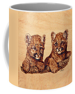 Cougar Cubs Coffee Mug by Ron Haist