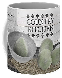 Coffee Mug featuring the mixed media Country Kitchen by Robin-Lee Vieira