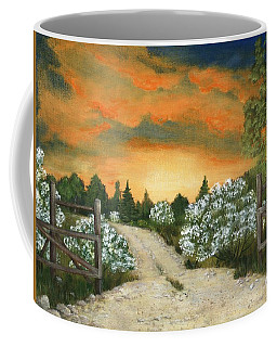Coffee Mug featuring the painting Country Road by Anastasiya Malakhova