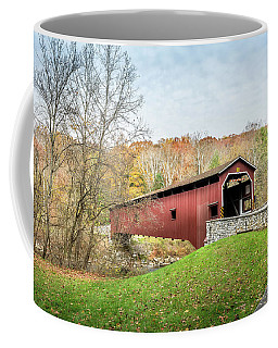Covered Bridge In Pennsylvania During Autumn Coffee Mug
