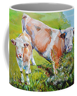 Cow And Calf Painting Coffee Mug