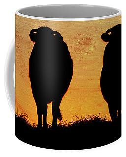 Cows Against Sunset Coffee Mug