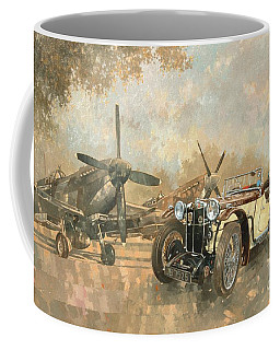 Cream Cracker Mg 4 Spitfires  Coffee Mug