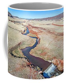 creek at  Colorado foothills - aerial view Coffee Mug