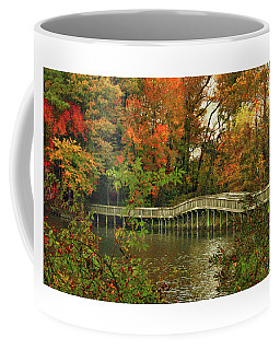 Coffee Mug featuring the photograph Crossing Into Autumn by Ola Allen