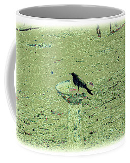 Crow And Bath Coffee Mug by YoMamaBird Rhonda