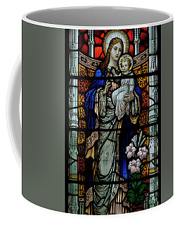 Coffee Mug featuring the photograph Culross Abbey - Stained Glass by Jeremy Lavender Photography