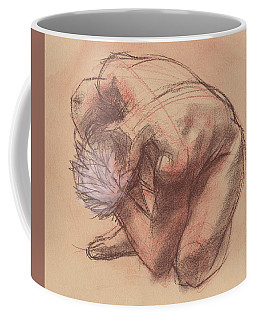 Coffee Mug featuring the painting Curled Up by Judith Kunzle