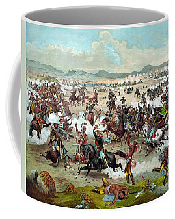 Coffee Mug featuring the painting Custer's Last Stand by War Is Hell Store