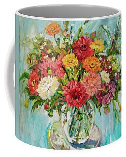Dahlias Coffee Mug by Alexandra Maria Ethlyn Cheshire