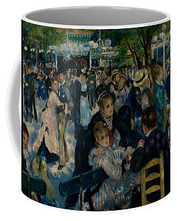 Coffee Mug featuring the painting Dance At Le Moulin De La Galette  by Auguste Renoir