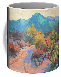 Coffee Mug featuring the painting Dawn In La Quinta Cove by Diane McClary