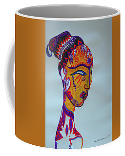Decorated African Queen Coffee Mug by Gloria Ssali
