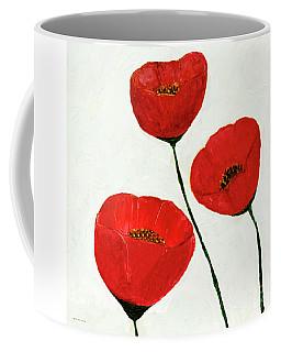 Decorative Poppies Acrylic Painting C62017 Coffee Mug