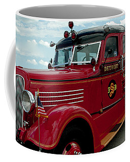 Detroit Fire Truck Coffee Mug