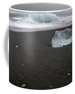 Coffee Mug featuring the photograph Diamonds Floating In Beaches, Iceland by Pradeep Raja PRINTS