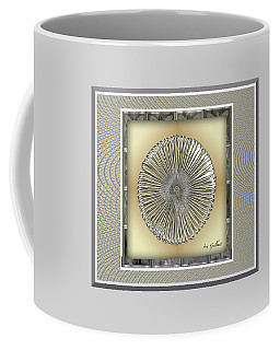 Coffee Mug featuring the digital art Disc #2 by Iris Gelbart