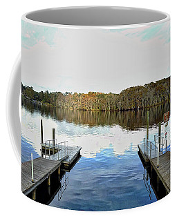 Coffee Mug featuring the photograph Dock Of The Bay by Michael Albright